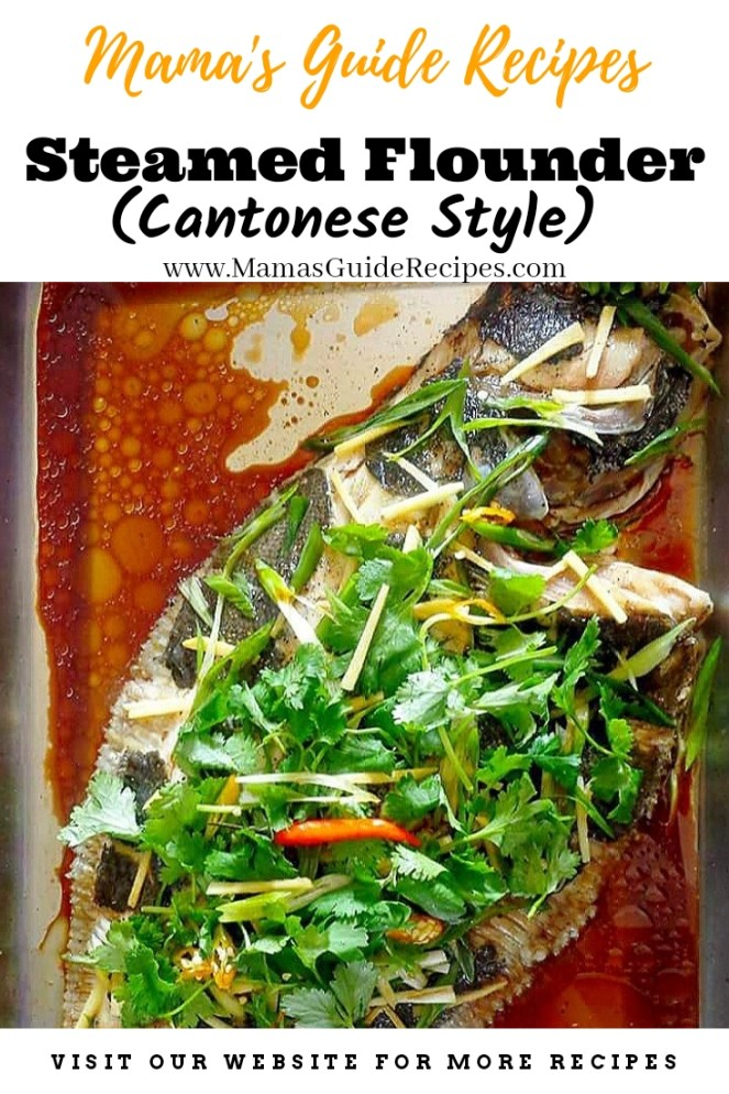 Steamed Flounder Fish (Cantonese Style)