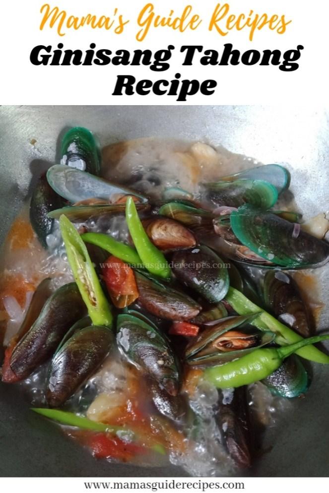 Ginisang Tahong Recipe
