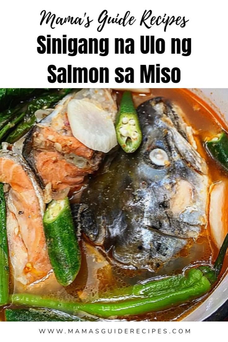 SINIGANG NA ULO NG SALMON SA MISO