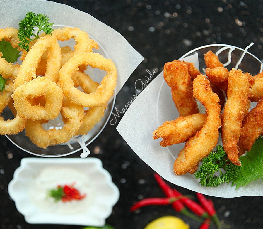 Chicken Fingers and Buttermilk Calamari