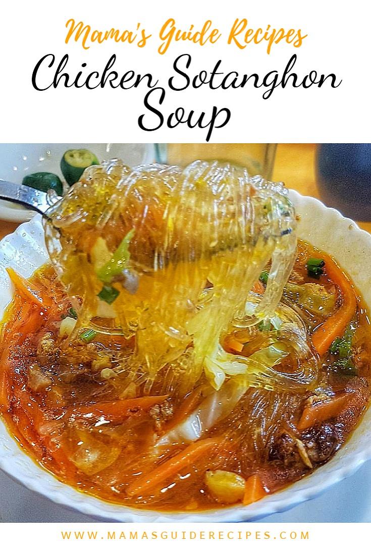 Chicken Sotanghon Soup (Vermicelli Soup)
