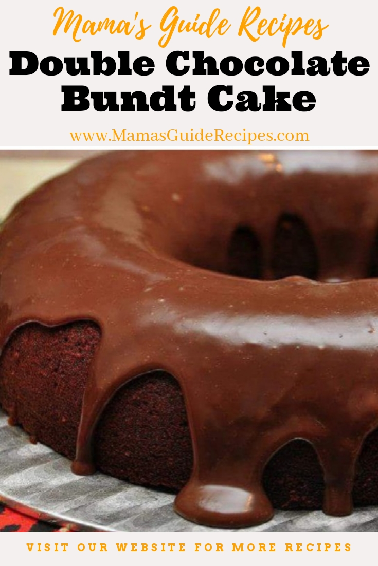 Double Chocolate Bundt Cake with Ganache Frost