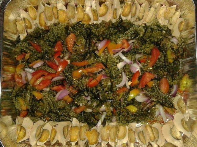 Lato Salad with Salted Eggs (Itlog na maalat)