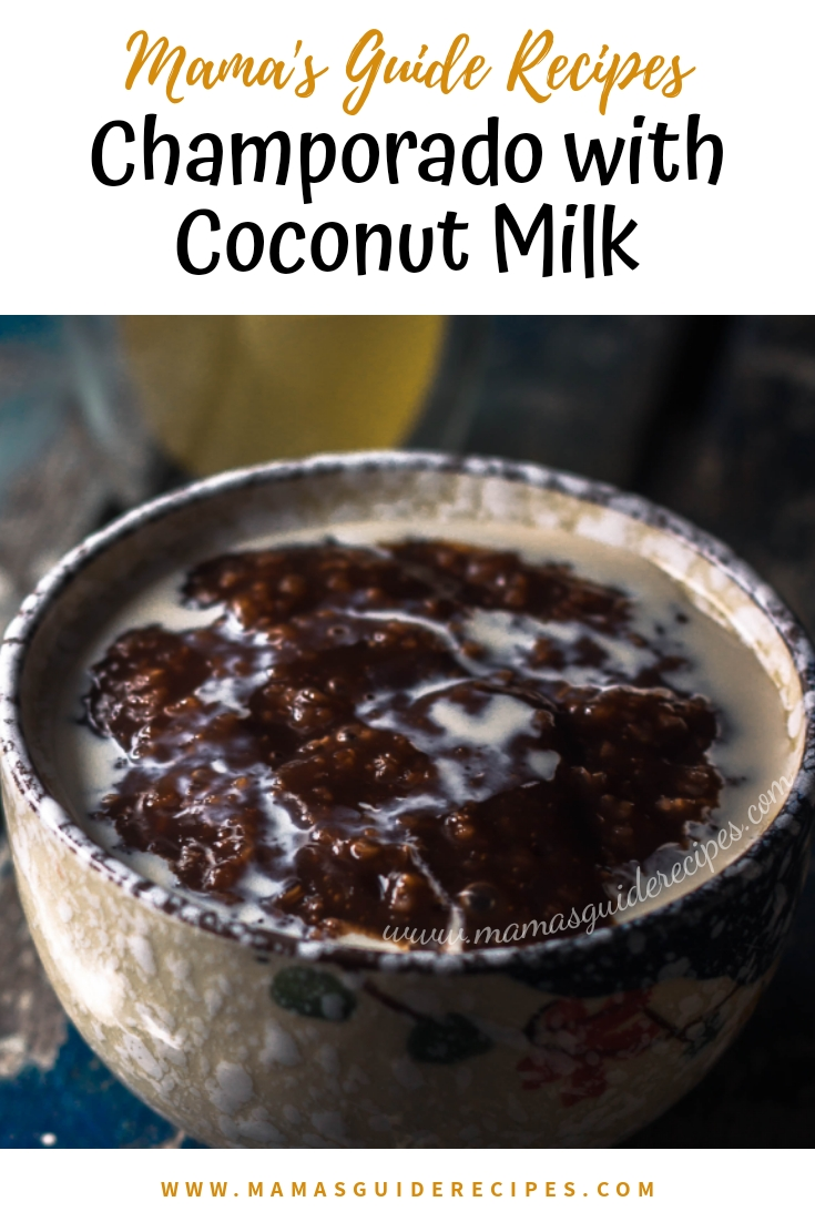 Champorado with Coconut Milk