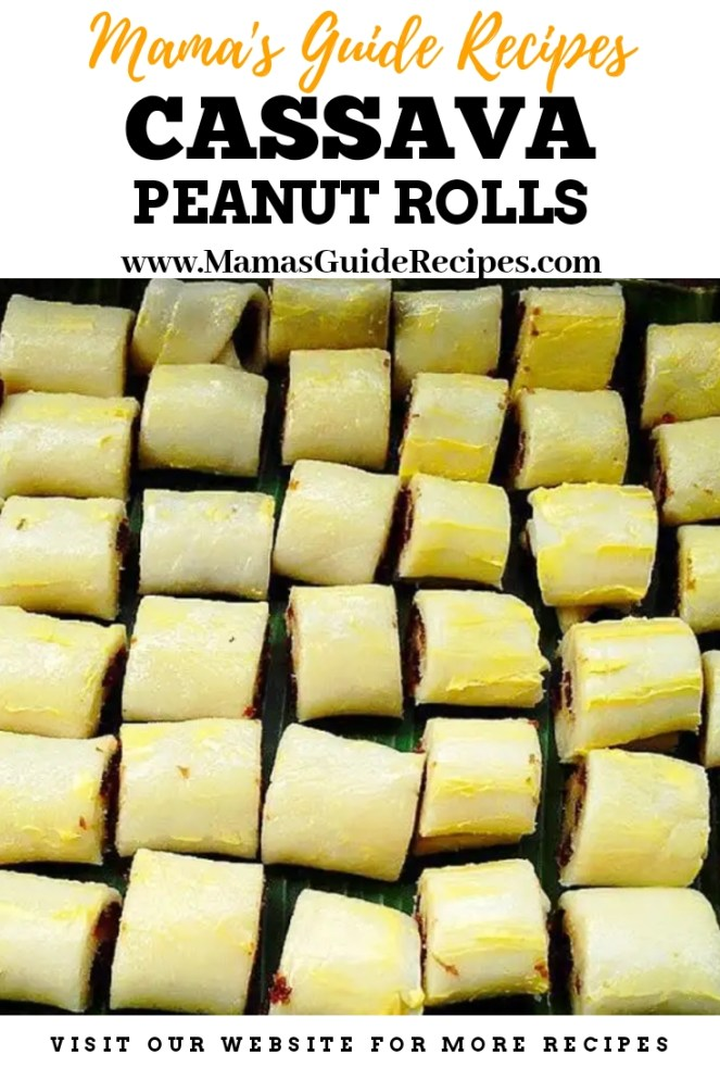 Cassava Peanut Rolls