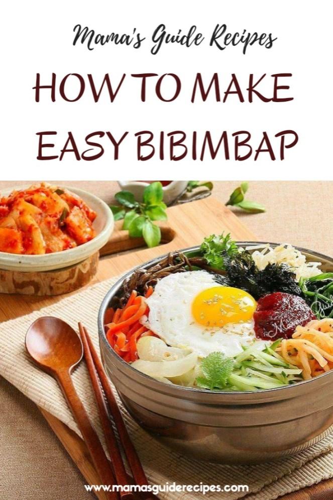 HOW TO MAKE EASY BIBIMBAP