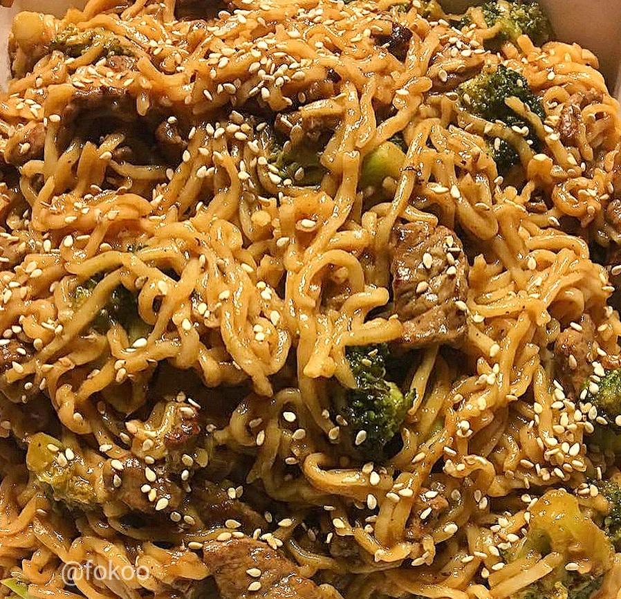 Beef Broccoli and Ramen