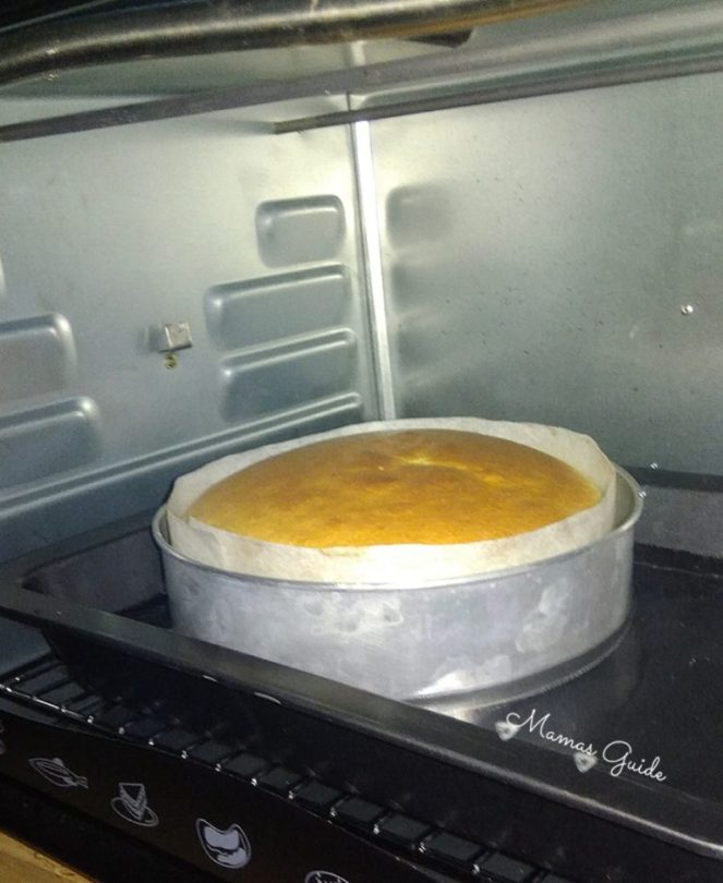 Baking Japanese Cotton Cheesecake in an Electric Oven @ 160°C