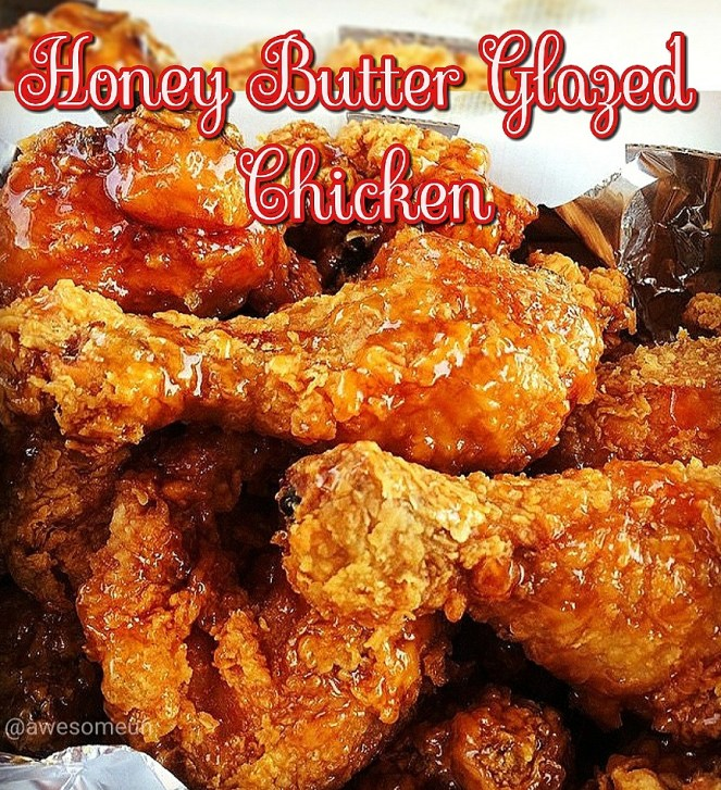HONEY BUTTER GARLIC GLAZED CHICKEN