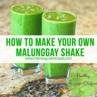 How to make Malunggay Shake