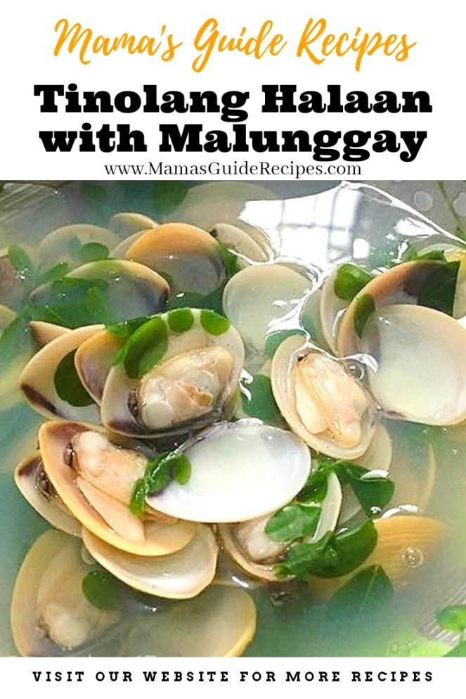 Tinolang Halaan with Malunggay