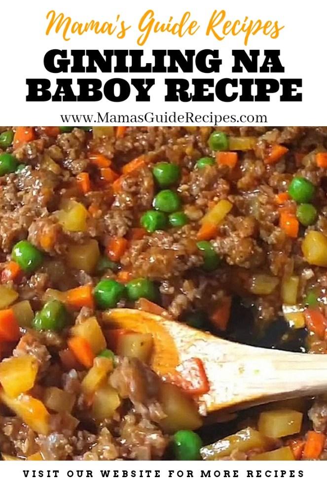 Giniling na Baboy Recipe