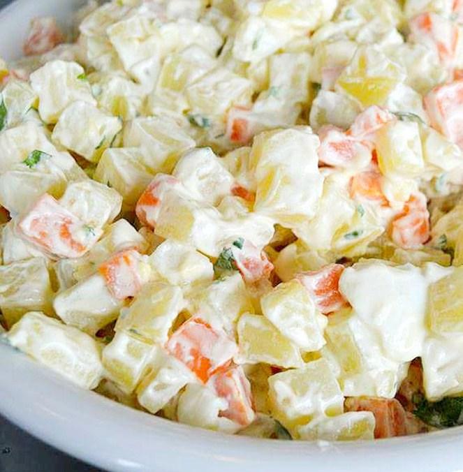 Potato Salad with Carrots, potato and carrot salad