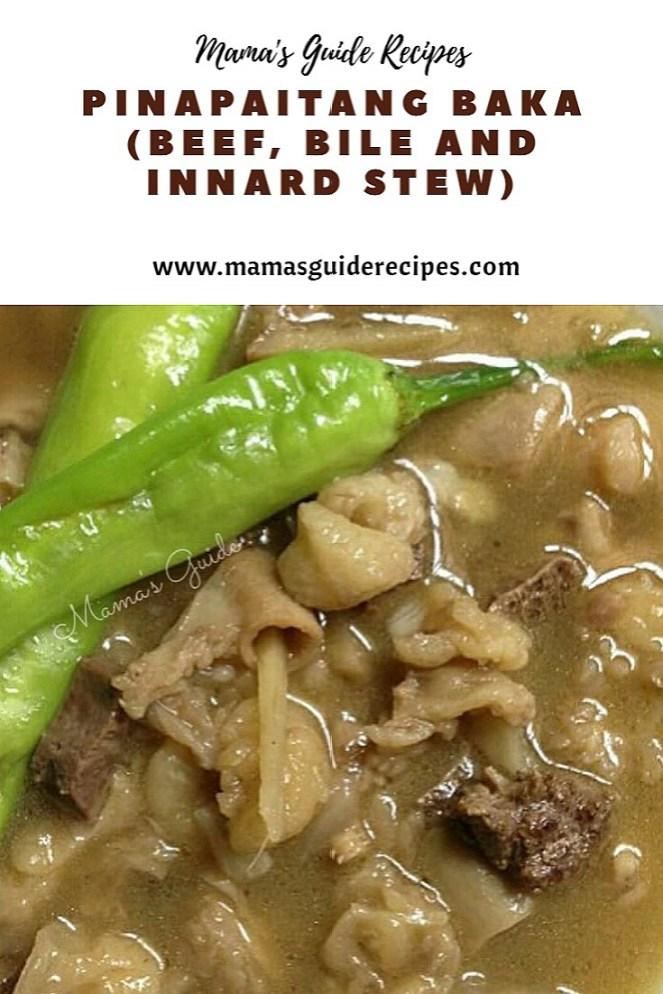 Pinapaitang Baka (Beef, Bile and Innard Stew)