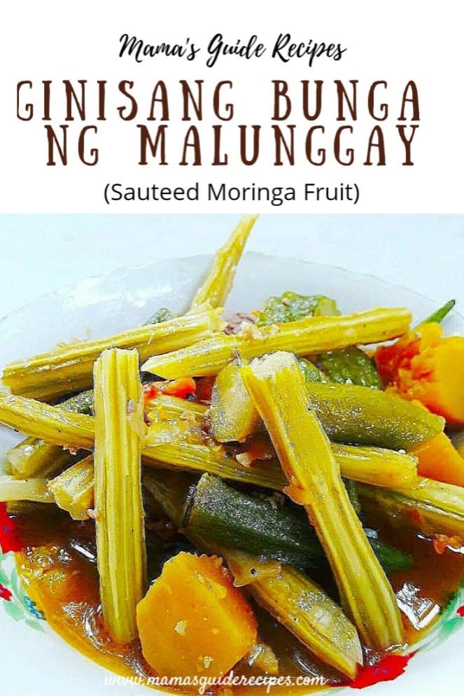 Ginisang Bunga ng Malunggay (Hagud or Agud)