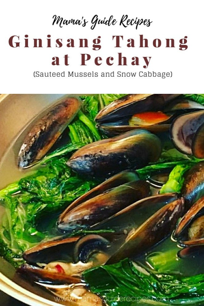 Ginisang Tahong at Pechay (Sauteed Mussels and Snow Cabbage)