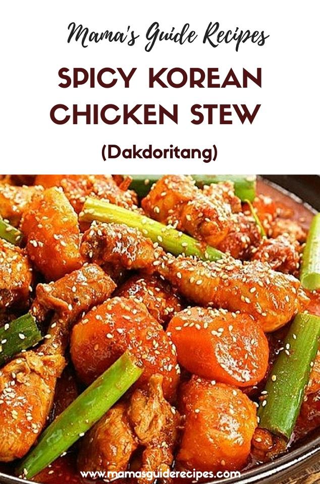 Spicy Korean Chicken Stew (Dakdoritang)