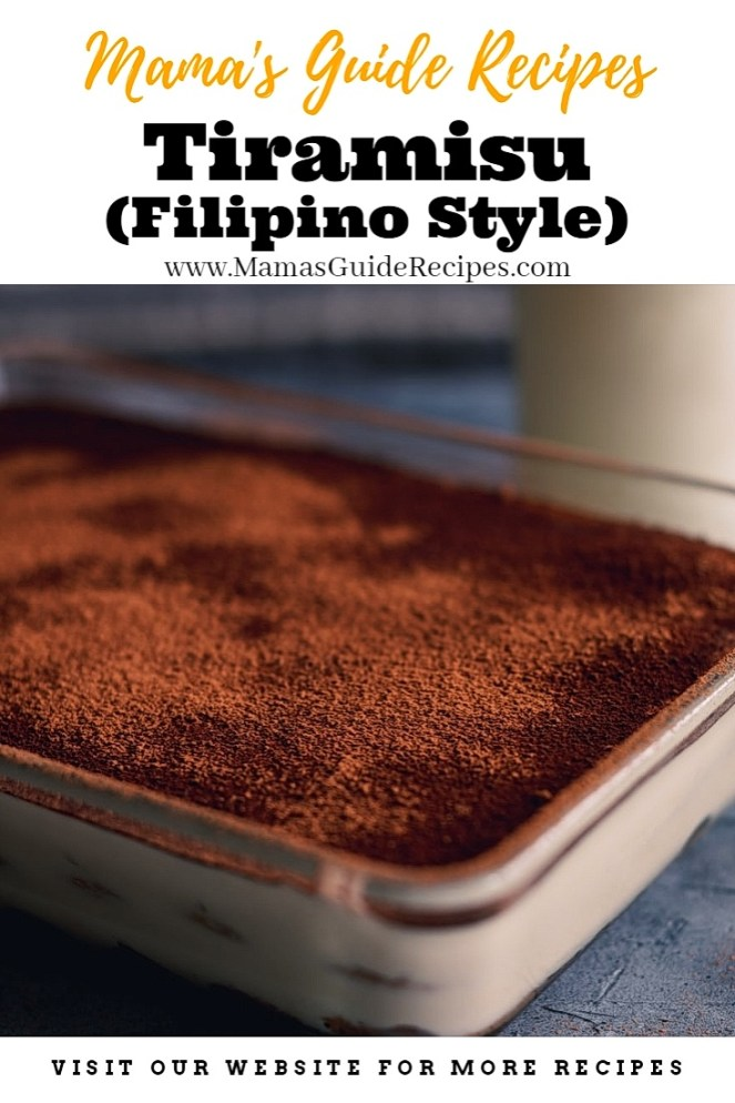 Tiramisu (Filipino Style Recipe)