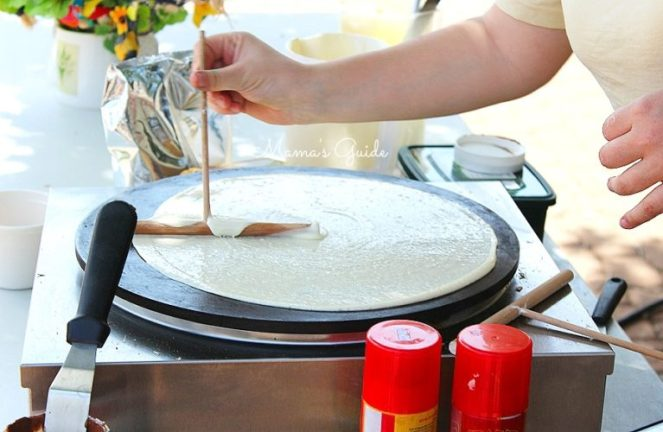 Mango Crepe recipe, how to cook a crepe