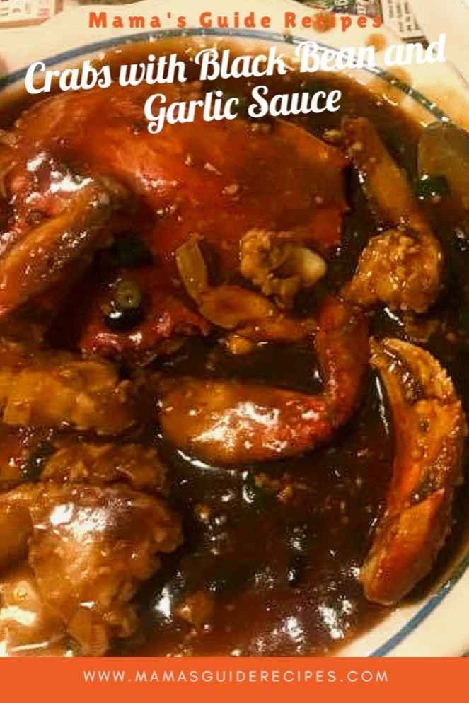CRABS WITH BLACK BEAN AND GARLIC SAUCE