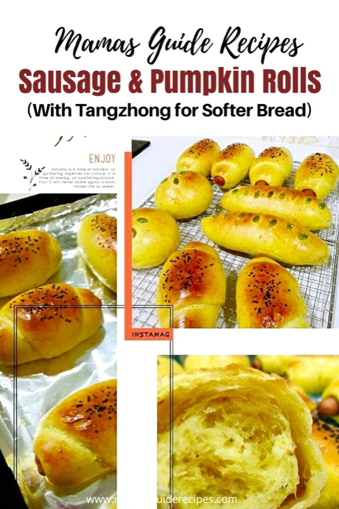 Sausage & Pumpkin Rolls Recipe (with Tangzhong)