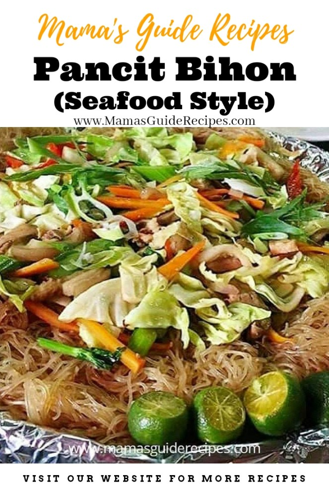 Pancit Bihon (Seafood Style)