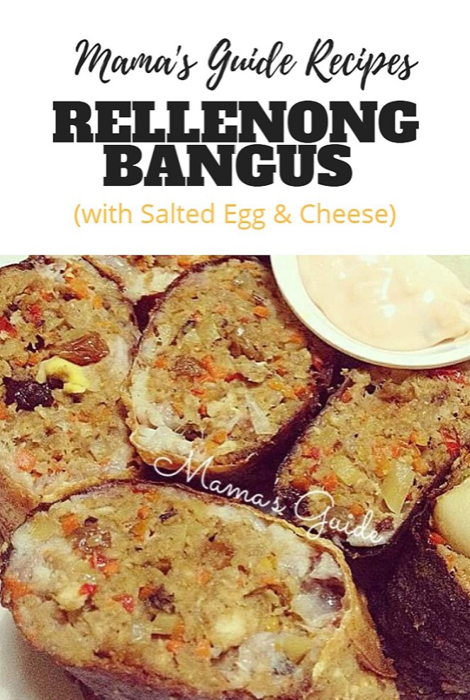 Rellenong Bangus with Salted Egg and Cheese