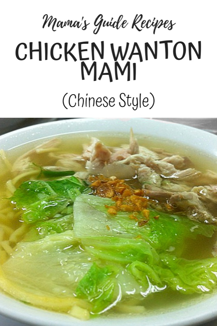 CHICKEN WANTON MAMI (CHINESE STYLE)