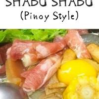 SHABU SHABU (PINOY STYLE)