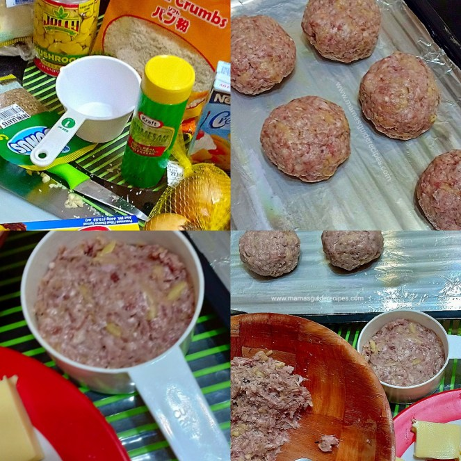 Cheesy Stuffed Burger Steak
