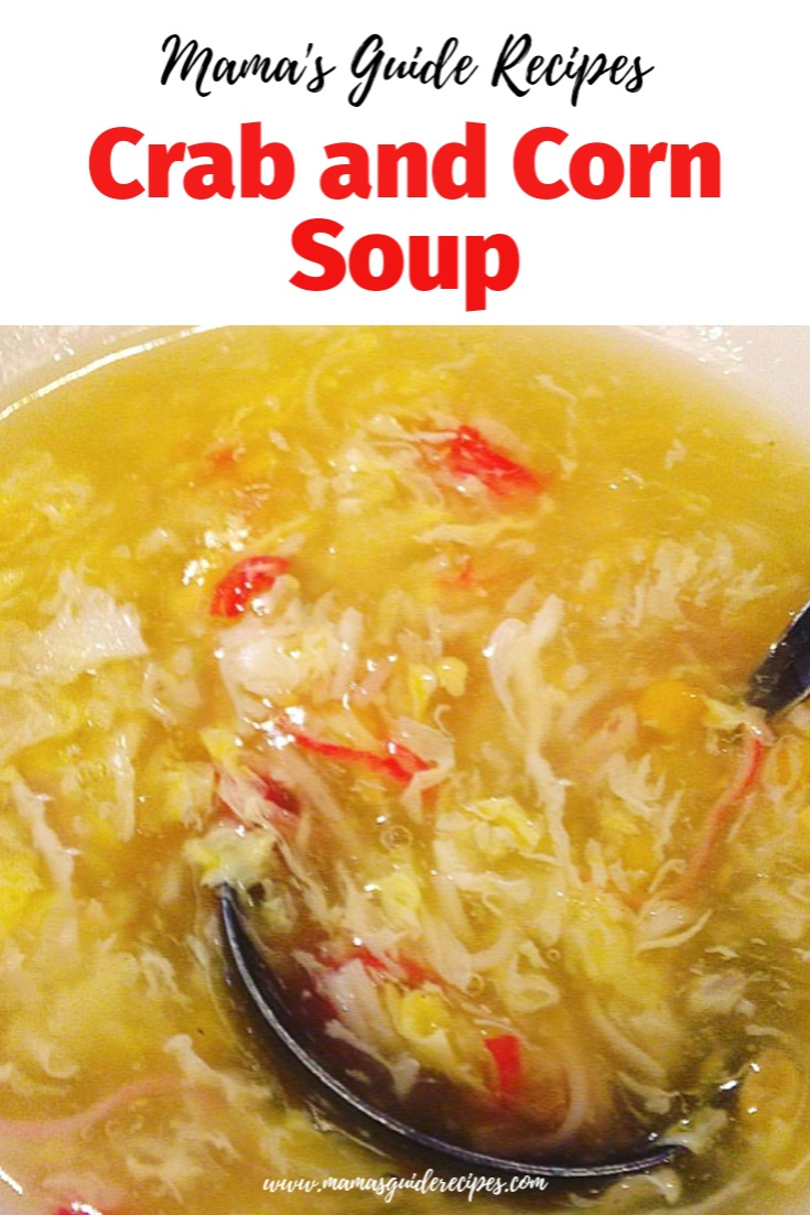 CRAB AND CORN SOUP