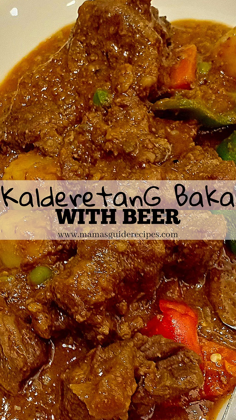 Kalderatang Baka with Beer