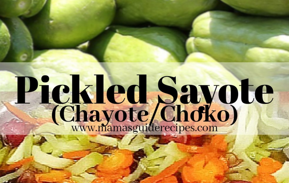 Pickled Sayote