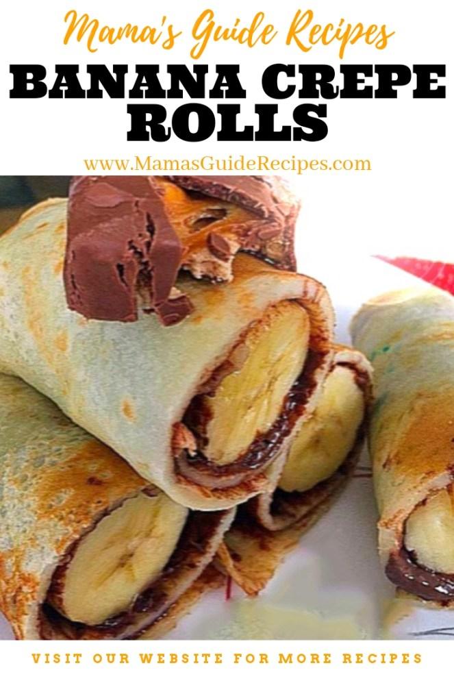 Banana Crepe Rolls