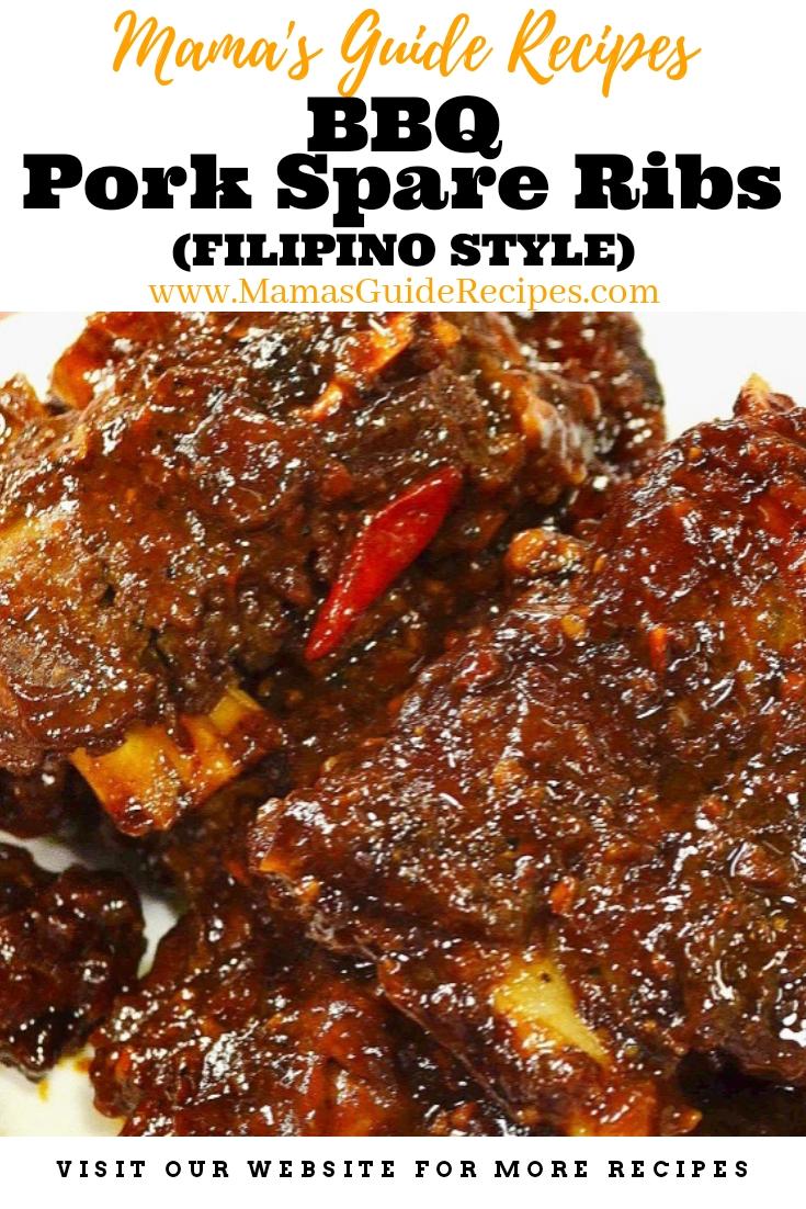 Bbq Pork Spare Ribs Filipino Style Mama S Guide Recipes