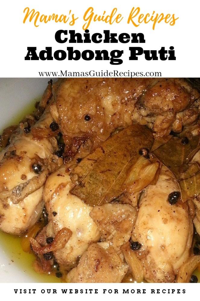 Chicken Adobong Puti
