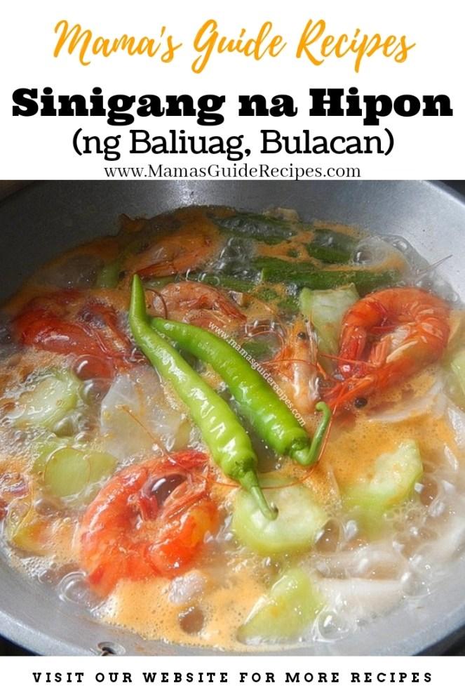 Sinigang na Hipon ng Baliuag, Bulacan