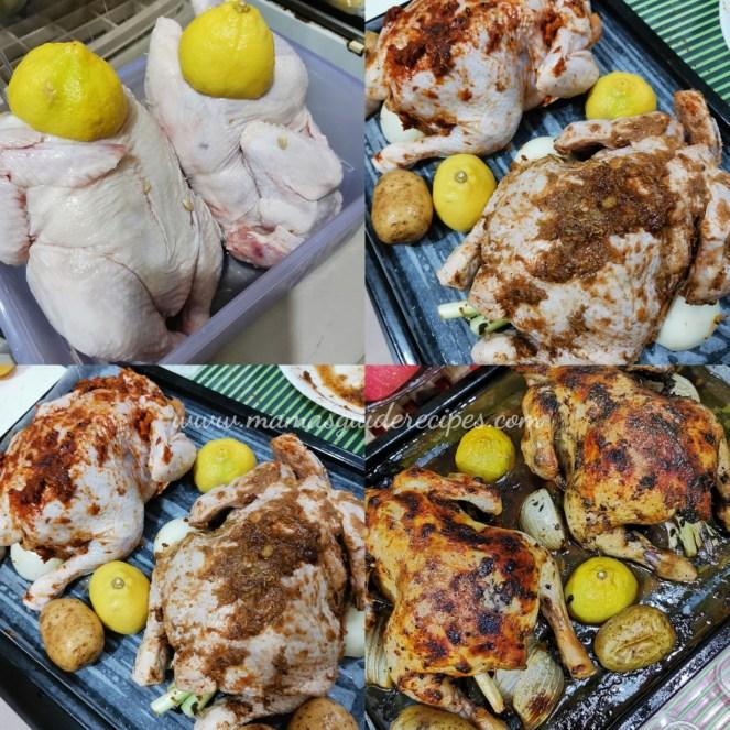 Double Roasted Chicken (Cajun and Jamaican Jerk)