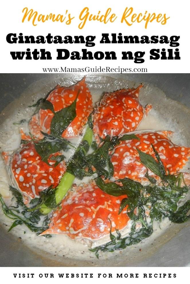 Ginataang Alimasag with Dahon ng Sili