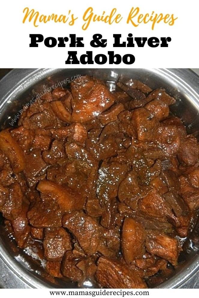 Pork and Liver Adobo