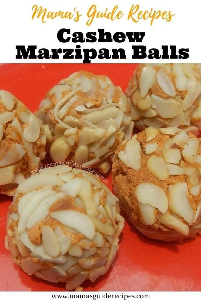 Cashew Marzipan Balls