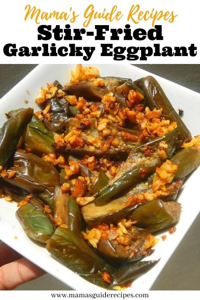Stir-Fried Garlicky Eggplant