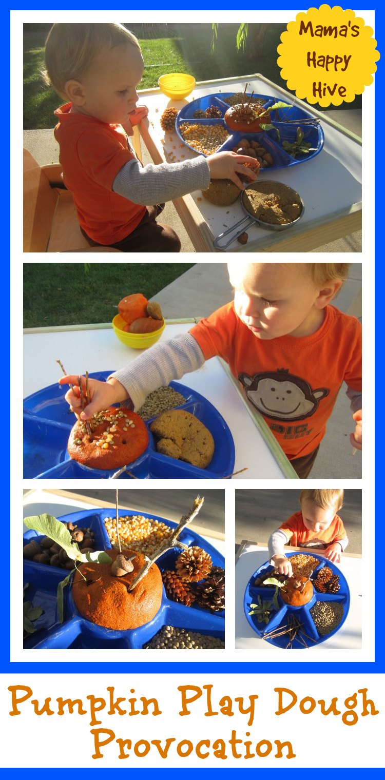 Pumpkin Play Dough Provocation Mama S Happy Hive
