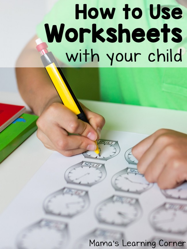 How to Use Worksheets with Your Child - helpful tips and ideas!