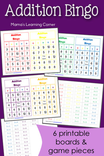 photograph about Math Fact Fluency Games Printable titled Printable Addition Bingo - Mamas Finding out Corner