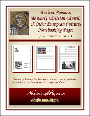 Ancient Romans Notebooking Pages - includes Julius Caesar and Early Rome