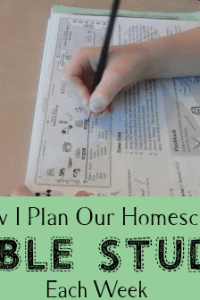 How I Plan Our Bible Curriculum Each Week