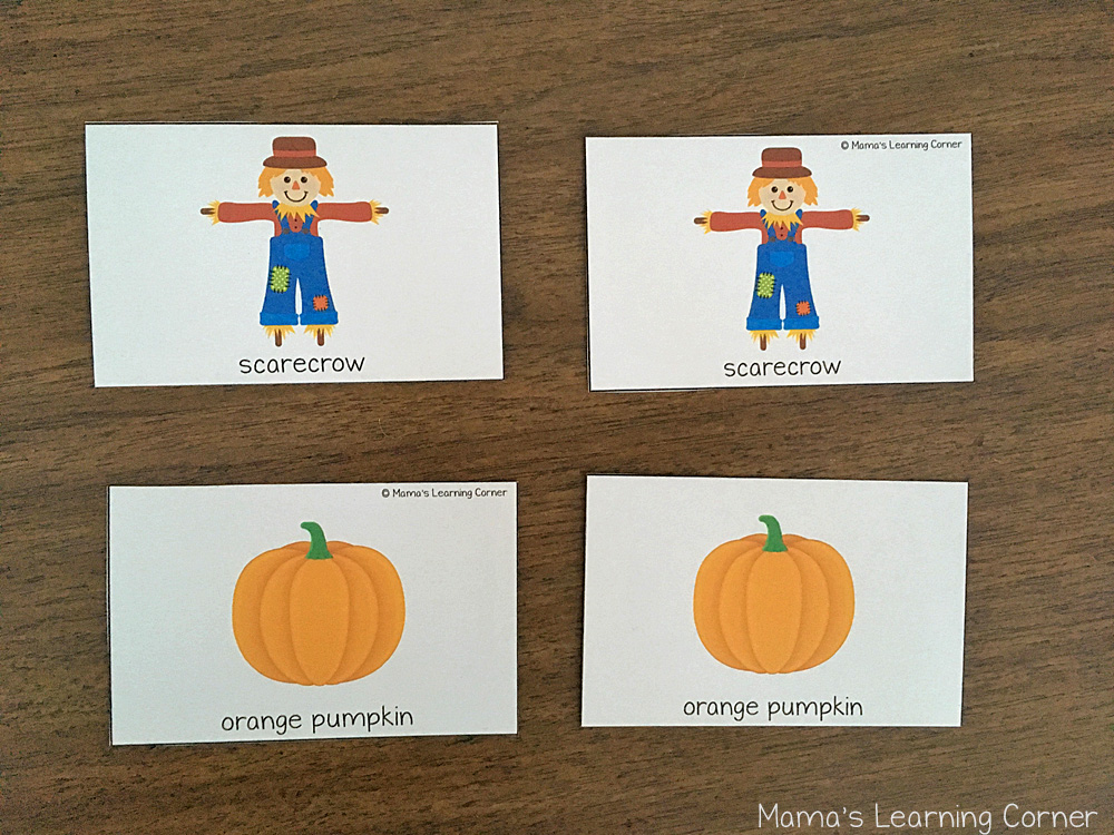 Fall Match Game Cards