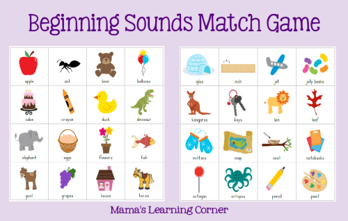 photo regarding Letter Sound Games Printable titled Starting up Appears Sport Recreation - Mamas Studying Corner
