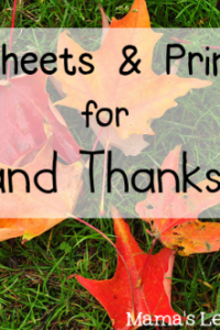 Fall and Thanksgiving Worksheets
